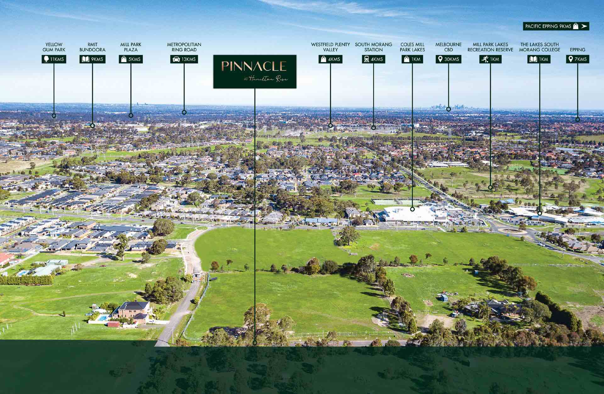Hamilton Rise Estate - South Morang Aerial