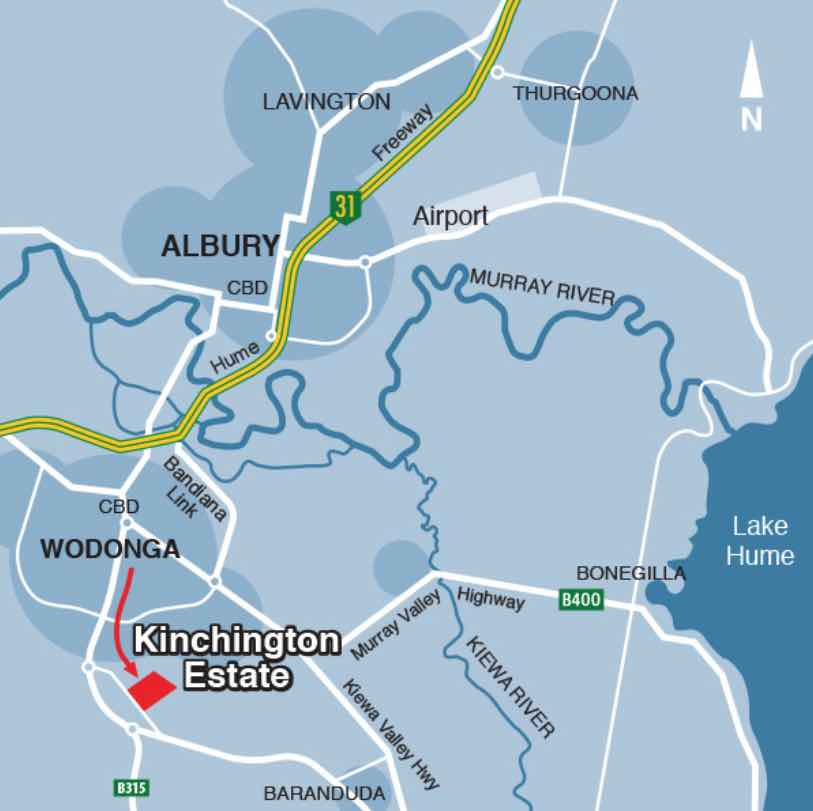 Kinchington Estate - Leneva Location map