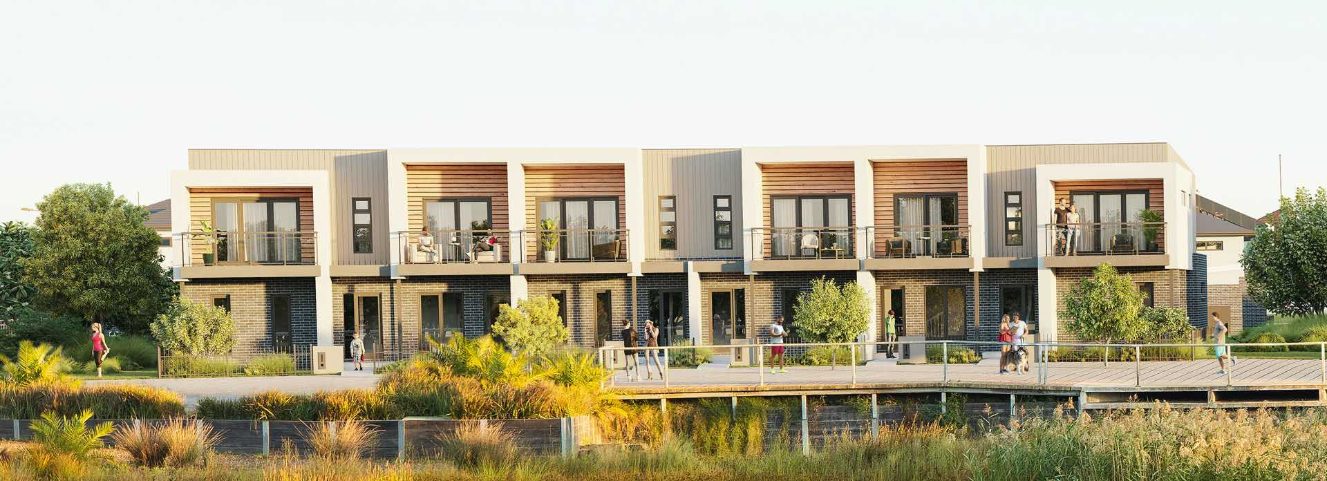 Mosaic Townhouses Estate - Lalor Render