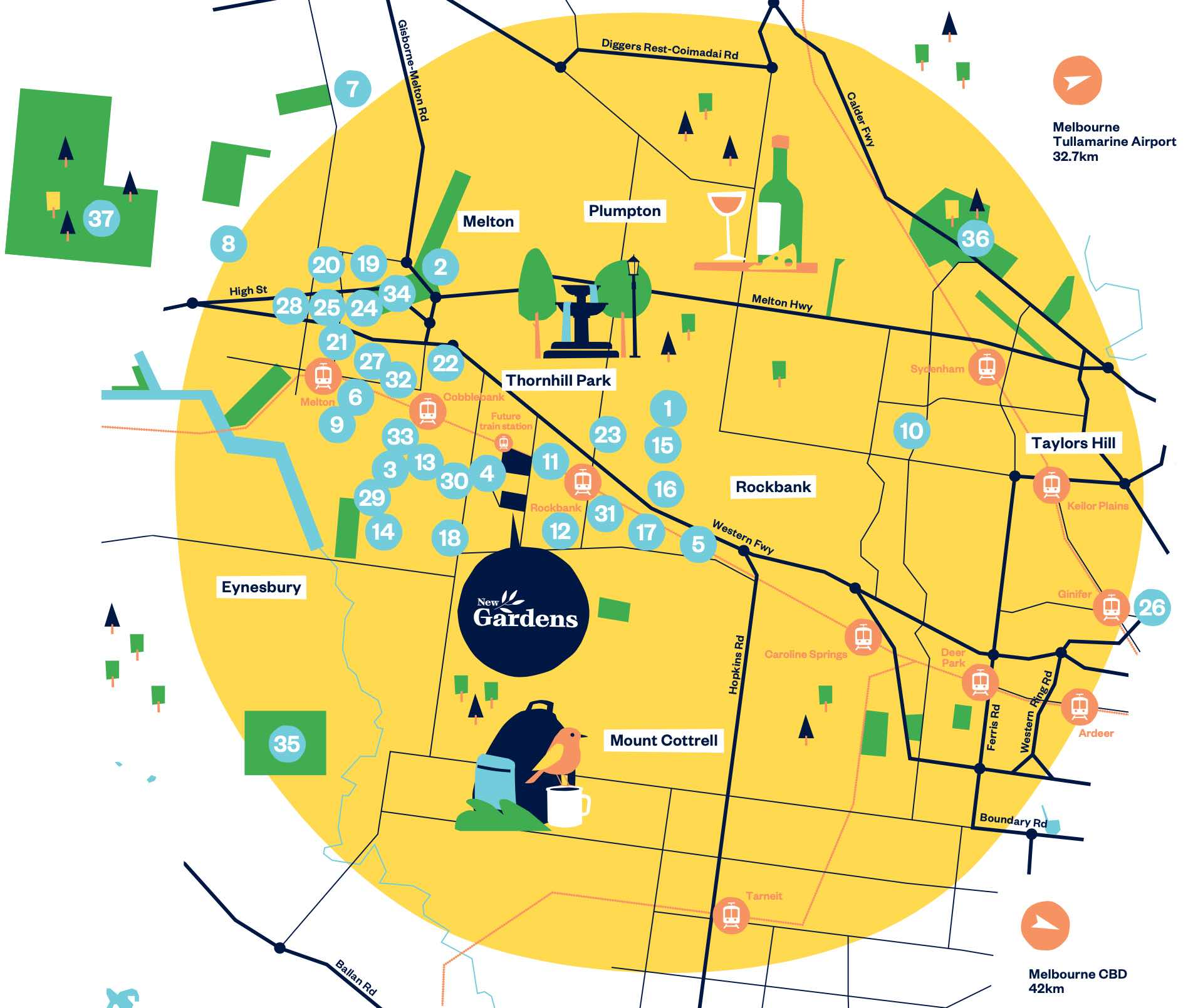 New Gardens Estate - Thornhill Park Location map