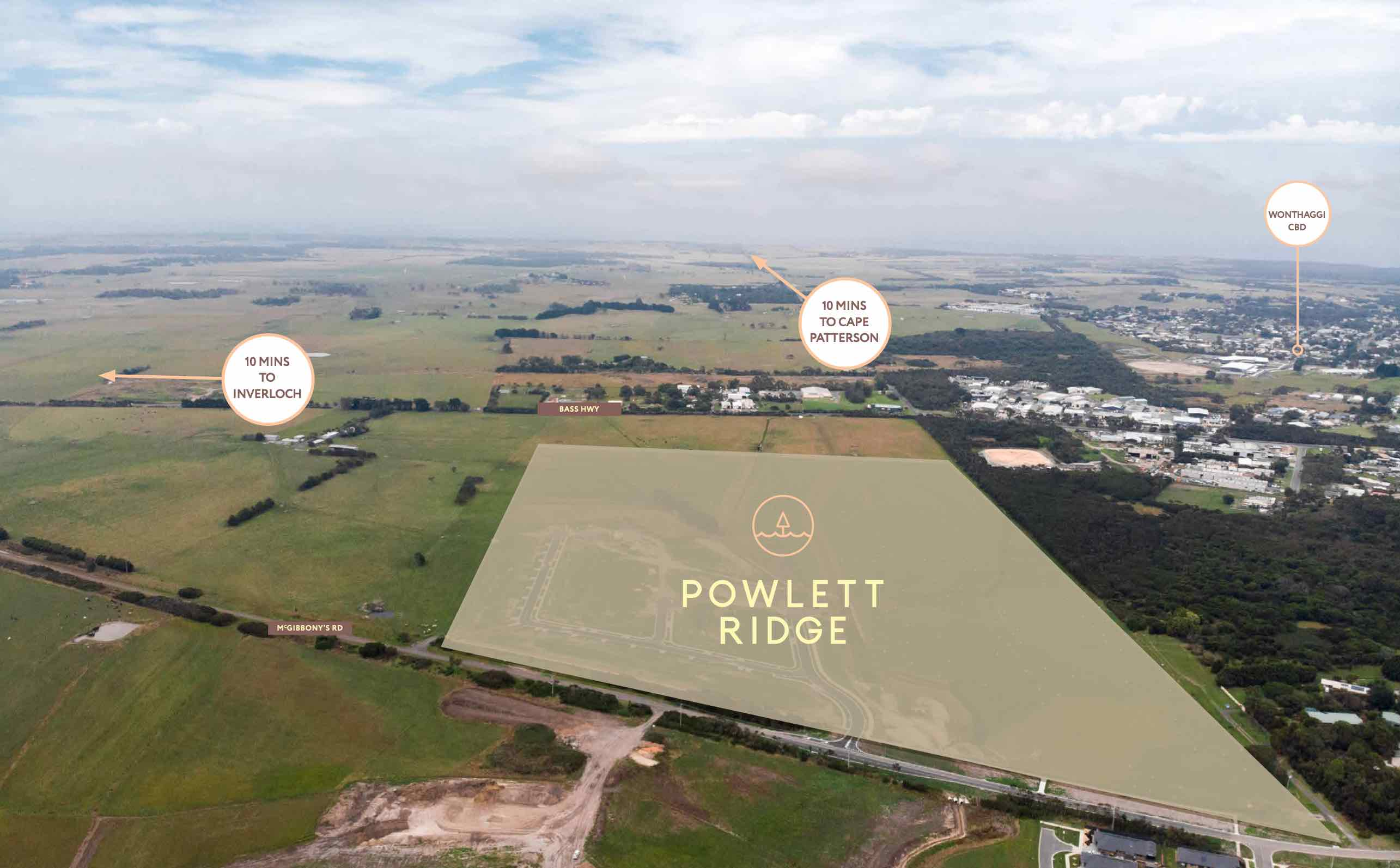 Powlett Ridge Estate - Wonthaggi Aerial