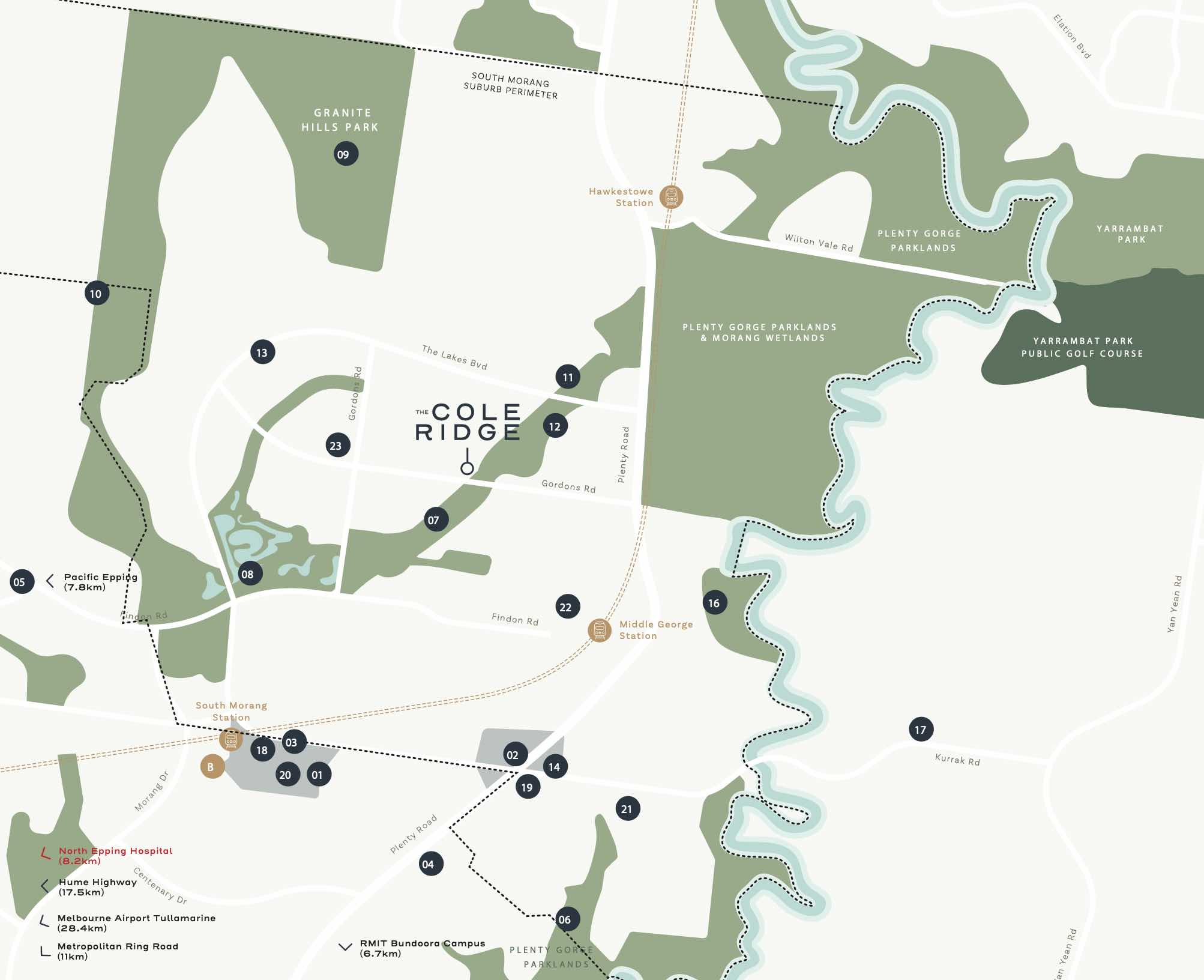 The Cole Ridge Estate - South Morang Location map