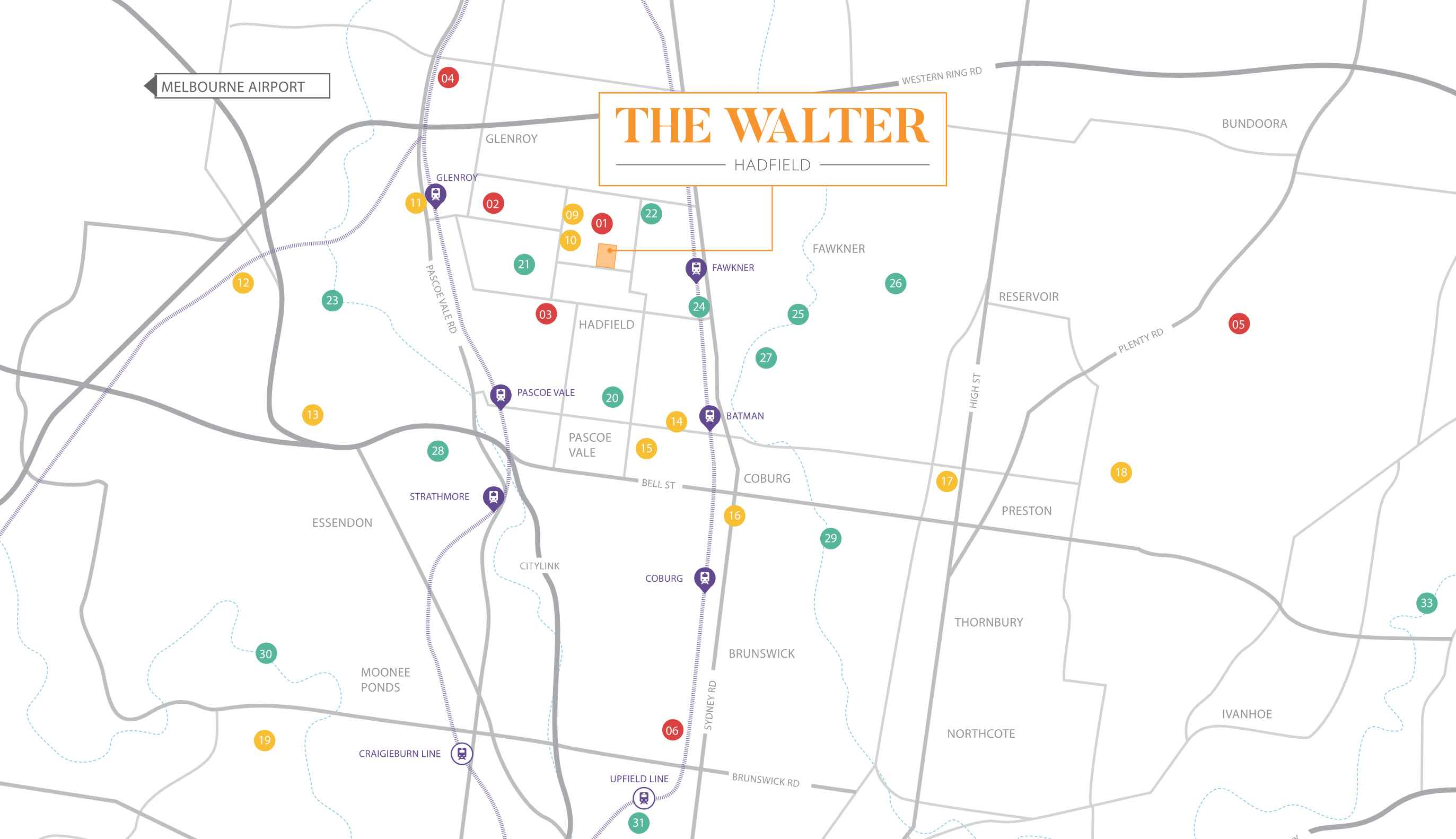 The Walter Estate - Hadfield Location map