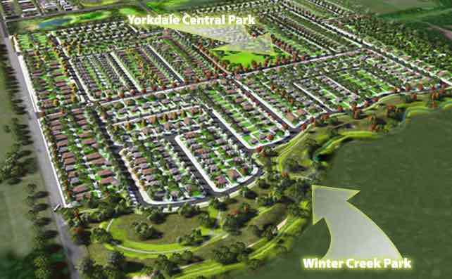 Yorkdale Estate - Winter Valley Aerial