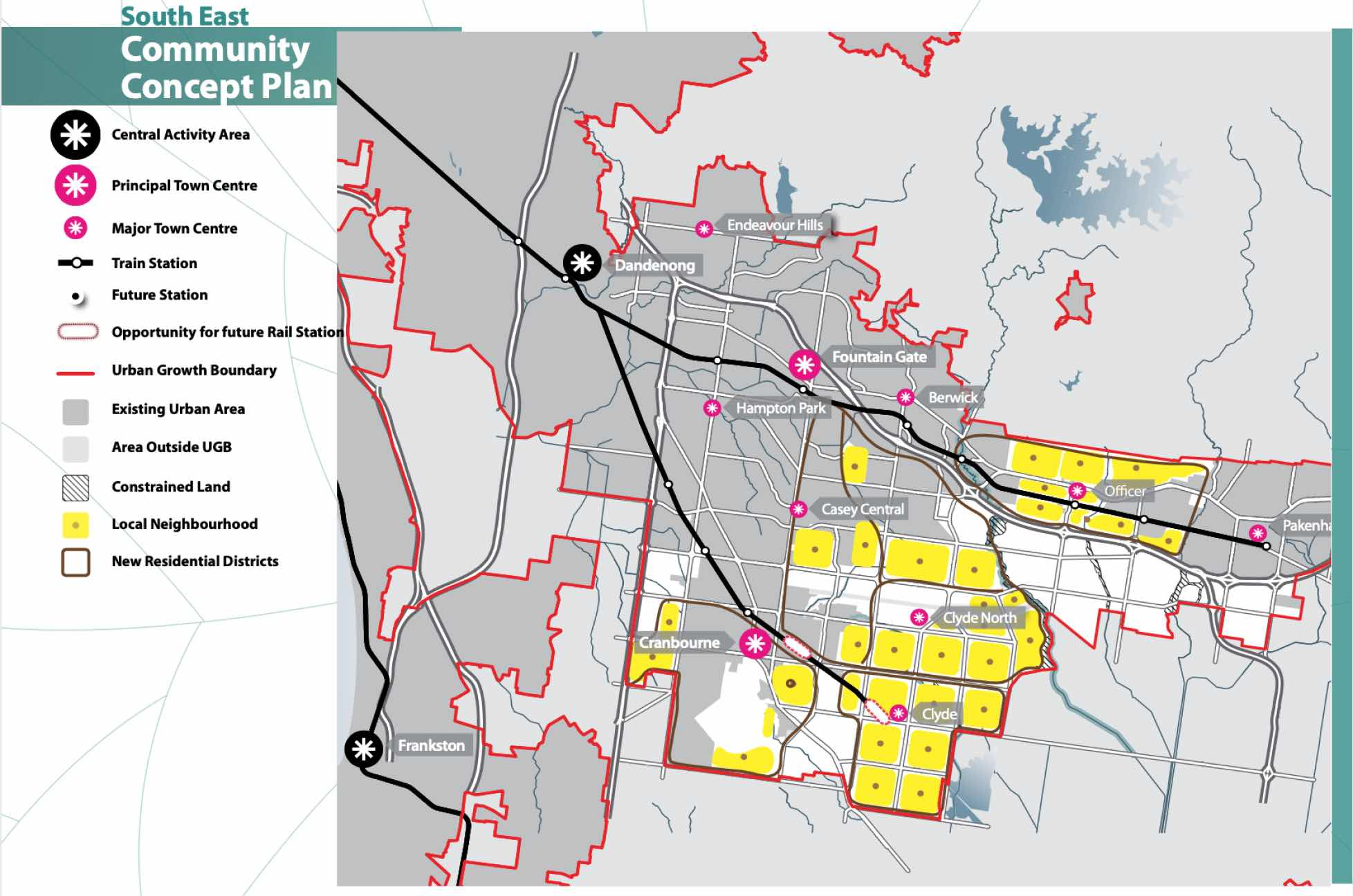 Melbourne South East Growth Corridor Community Concept Plan - vpa.vic.gov.au