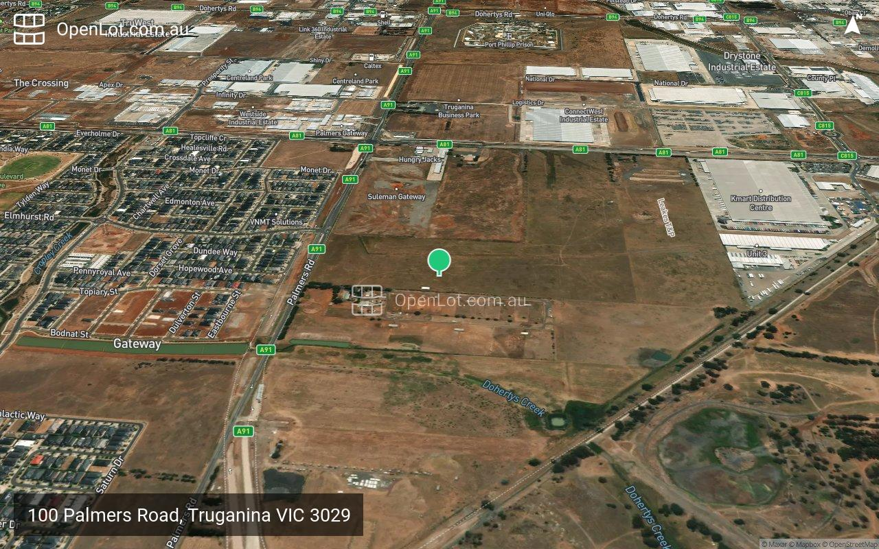 Satellite image for 100 Palmers Road, Truganina VIC 3029