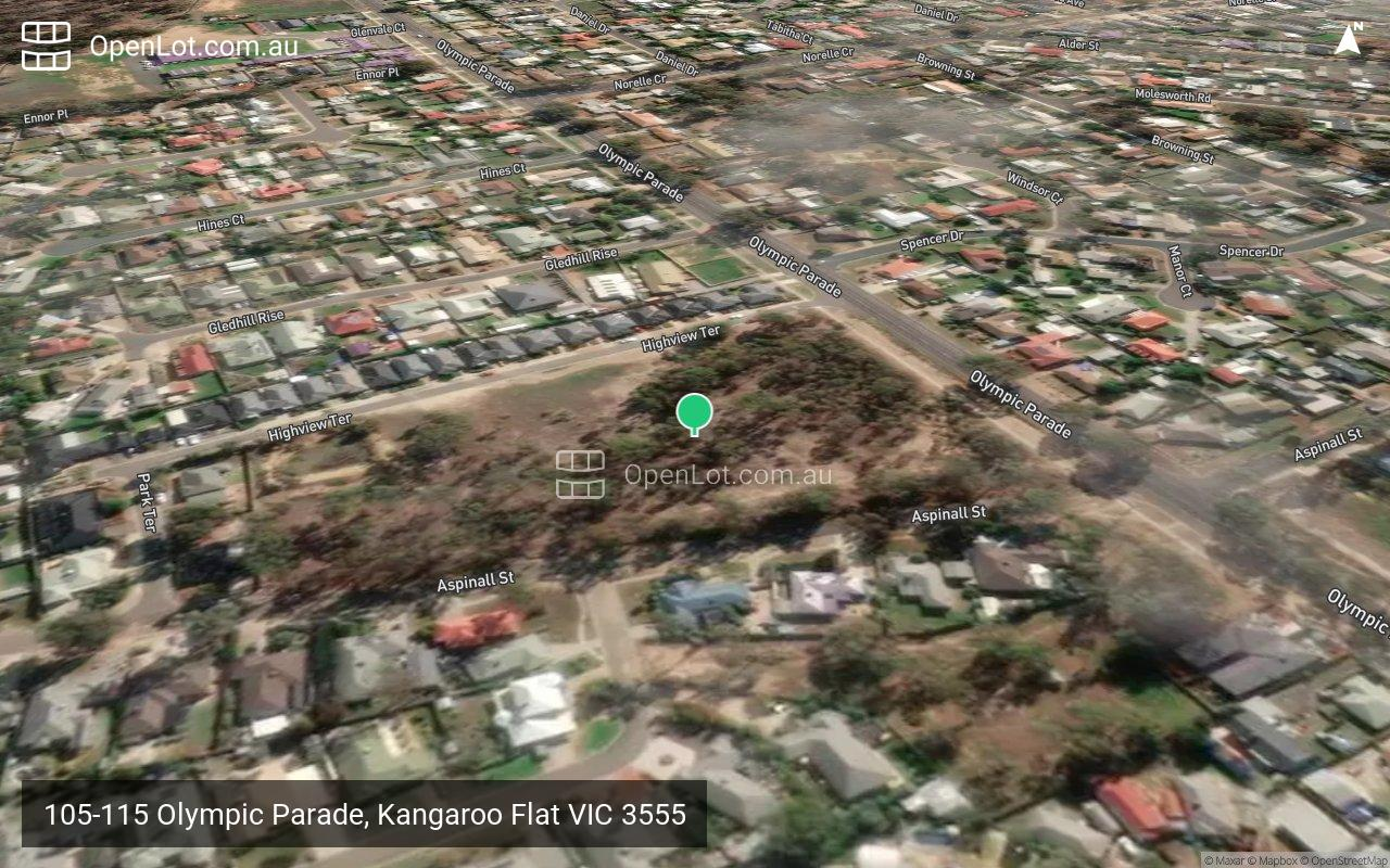 Satellite image for 105-115 Olympic Parade, Kangaroo Flat VIC 3555