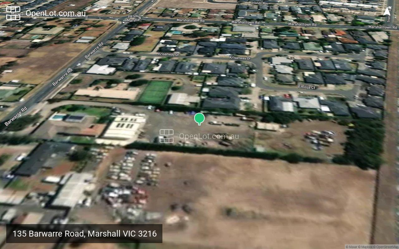 Satellite image for 135 Barwarre Road, Marshall VIC 3216
