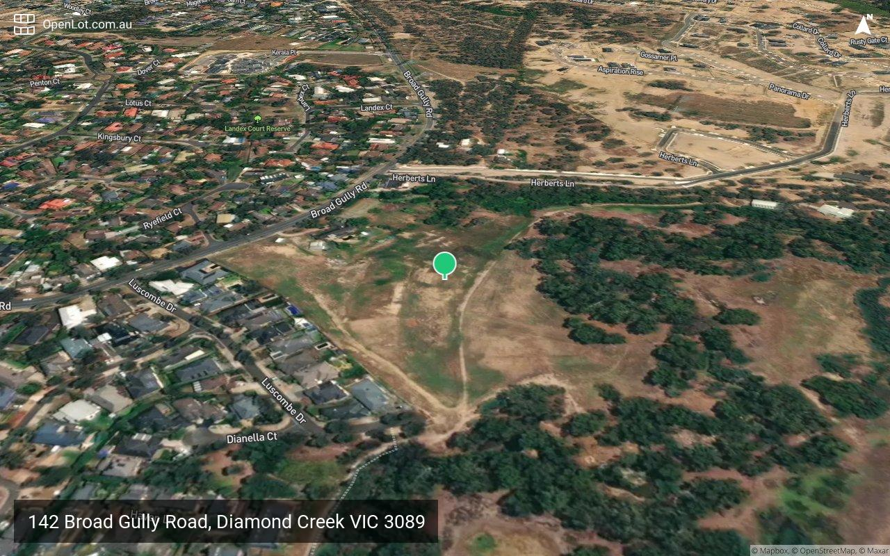 Satellite image for 142 Broad Gully Road, Diamond Creek VIC 3089