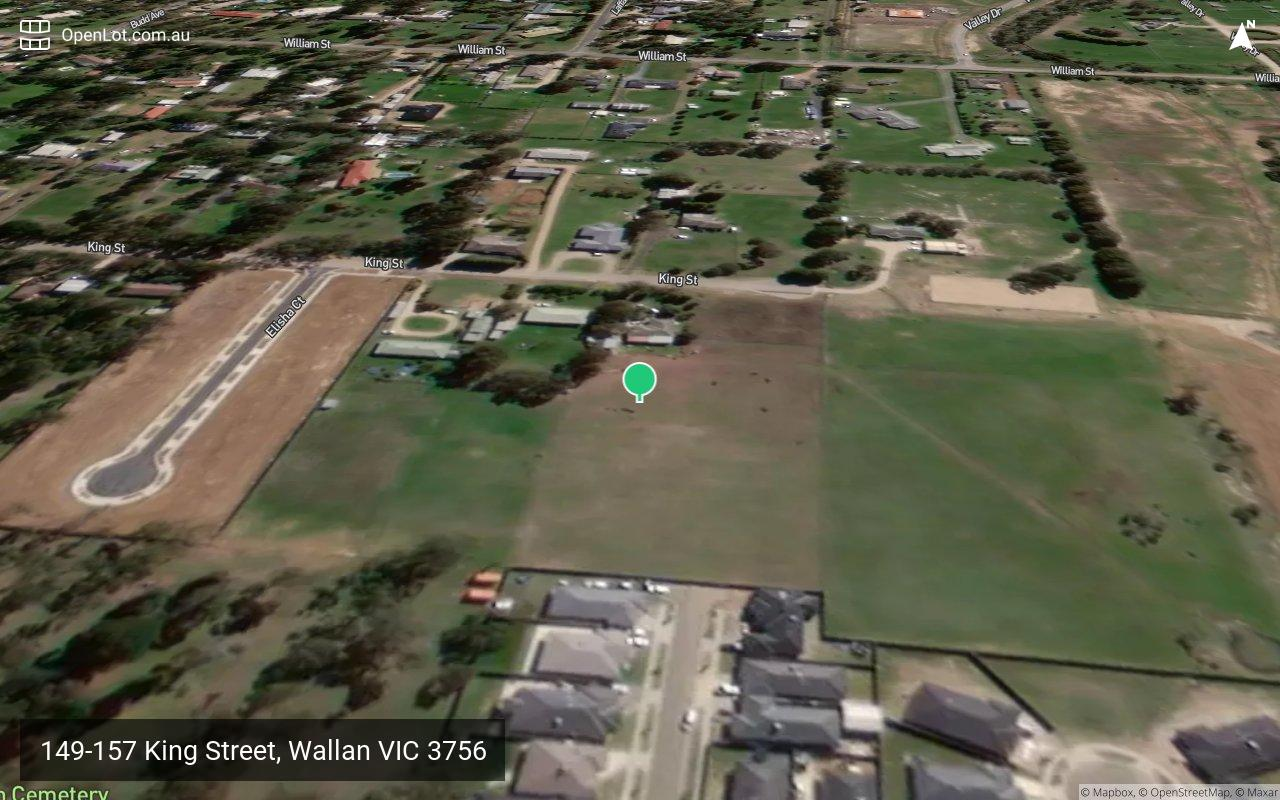 Satellite image for 149-157 King Street, Wallan VIC 3756