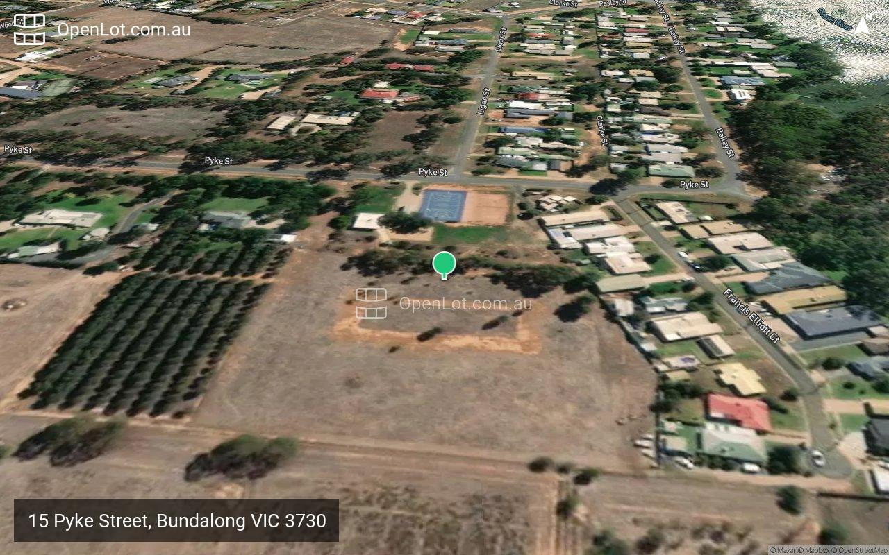 Satellite image for 15 Pyke Street, Bundalong VIC 3730