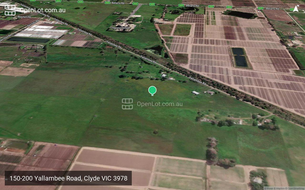 Satellite image for 150-200 Yallambee Road, Clyde VIC 3978