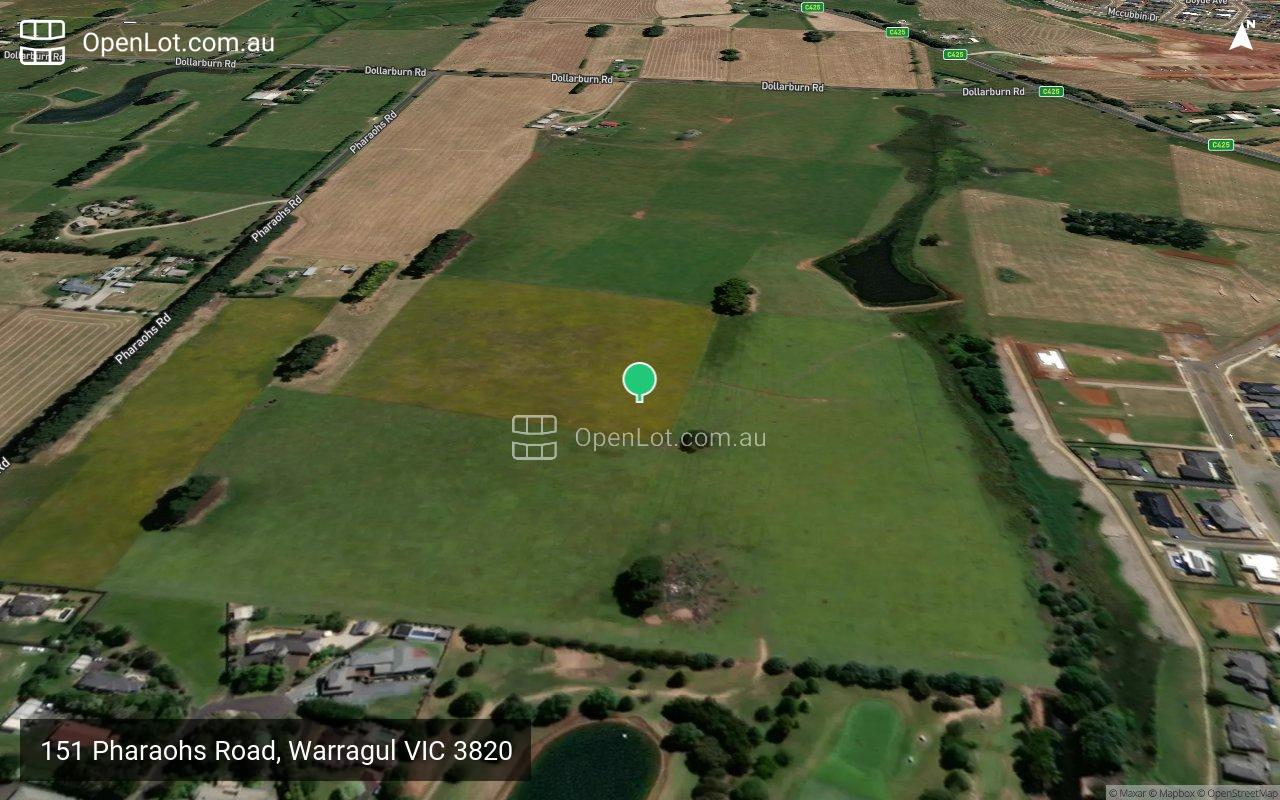 Satellite image for 151 Pharaohs Road, Warragul VIC 3820