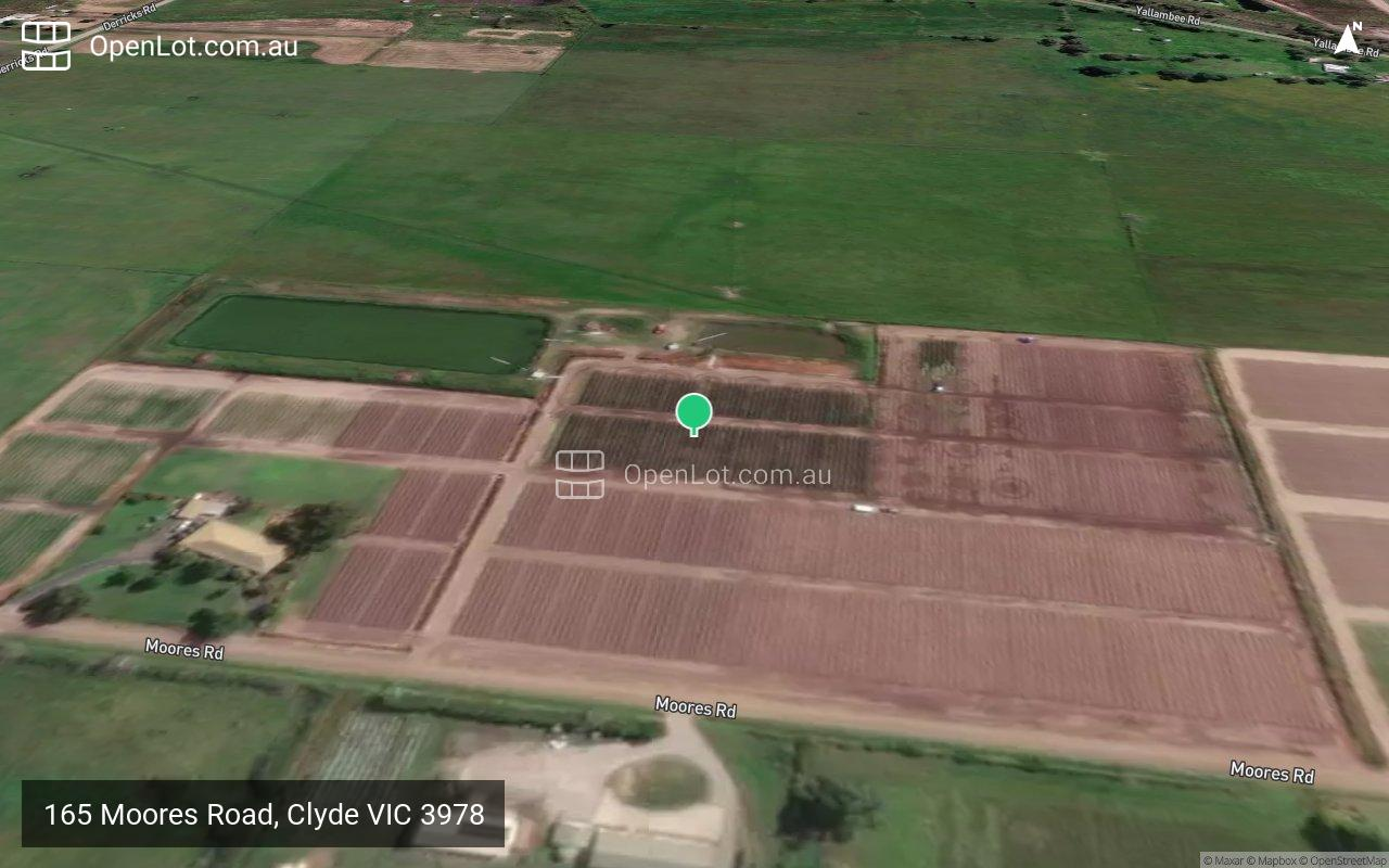 Satellite image for 165 Moores Road, Clyde VIC 3978
