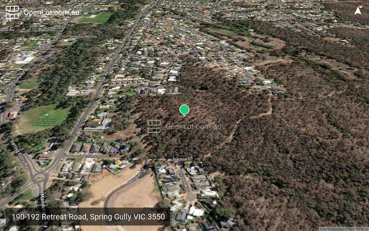 Satellite image for 190-192 Retreat Road, Spring Gully VIC 3550