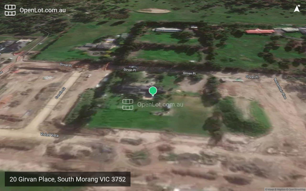 Satellite image for 20 Girvan Place, South Morang VIC 3752