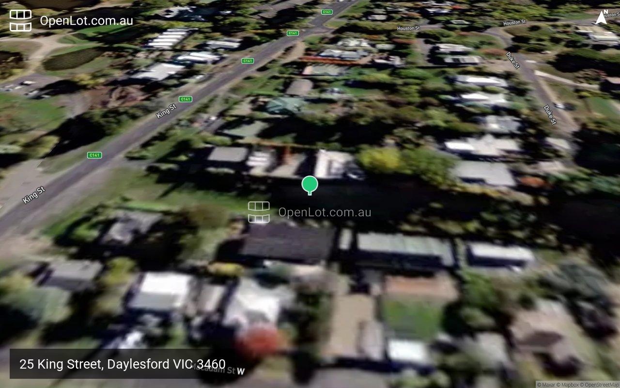 Satellite image for 25 King Street, Daylesford VIC 3460