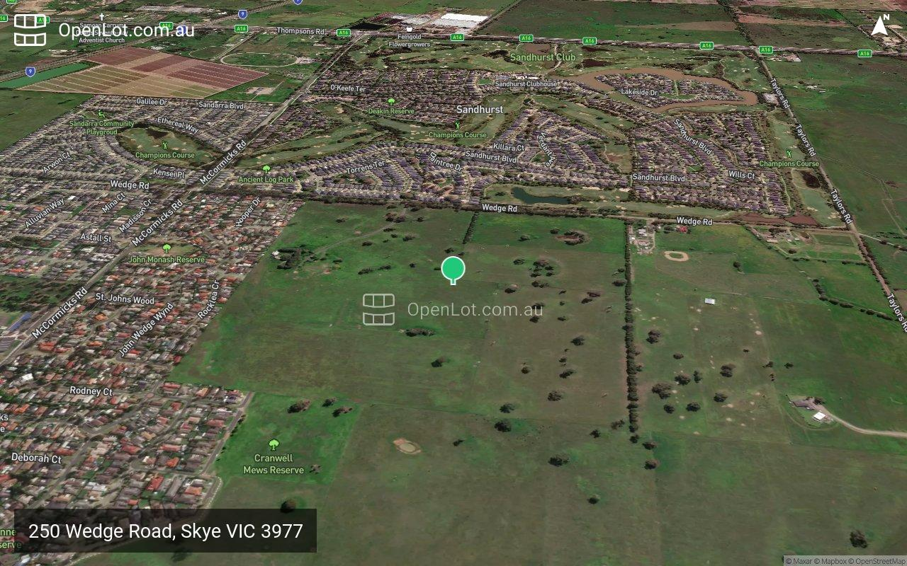 Satellite image for 250 Wedge Road, Skye VIC 3977