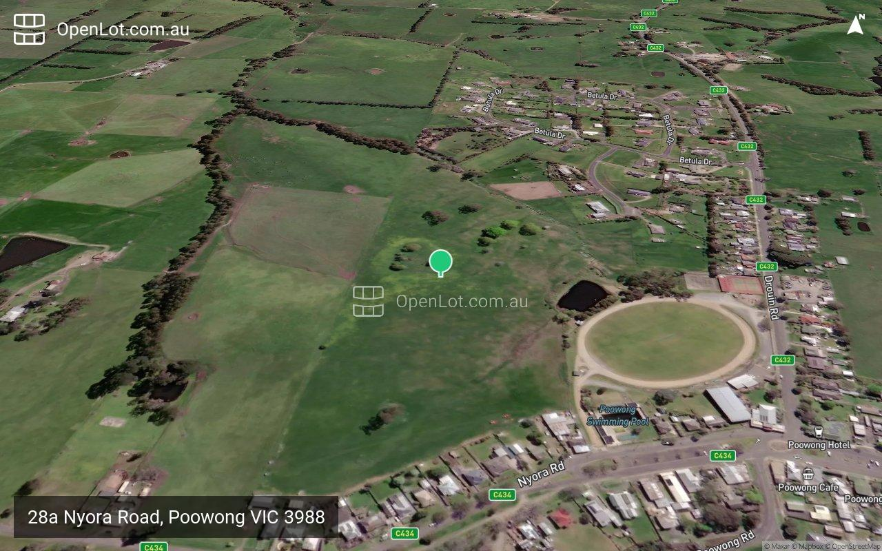 Satellite image for 28a Nyora Road, Poowong VIC 3988