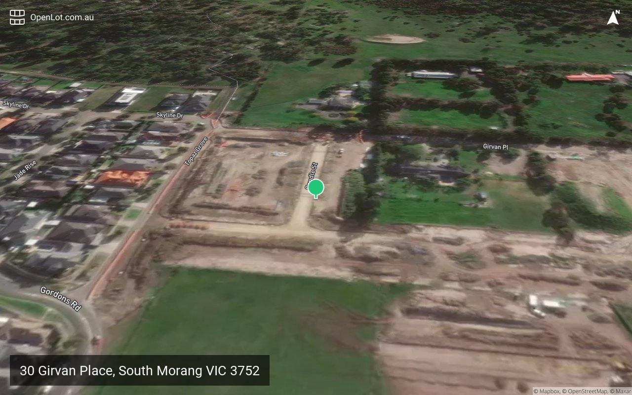 Satellite image for 30 Girvan Place, South Morang VIC 3752