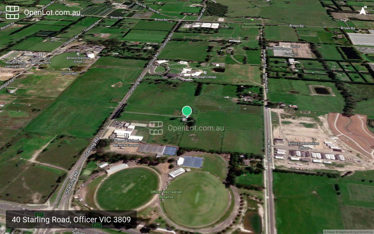 Satellite image for 40 Starling Road, Officer VIC 3809