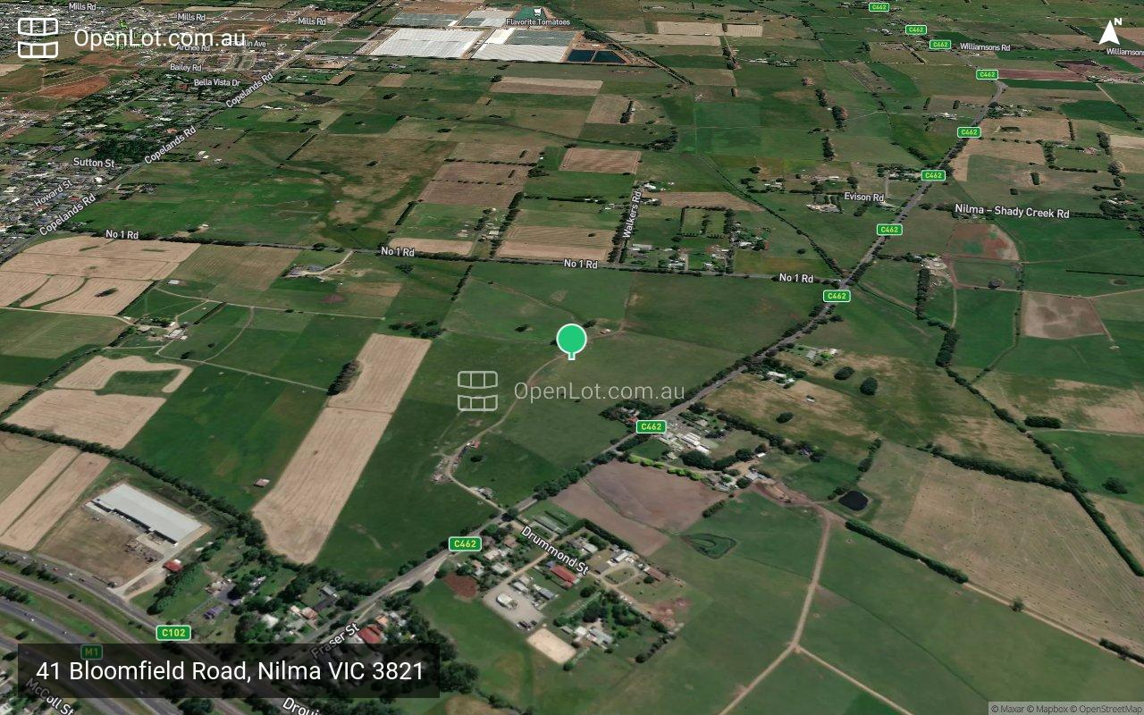 Satellite image for 41 Bloomfield Road, Nilma VIC 3821