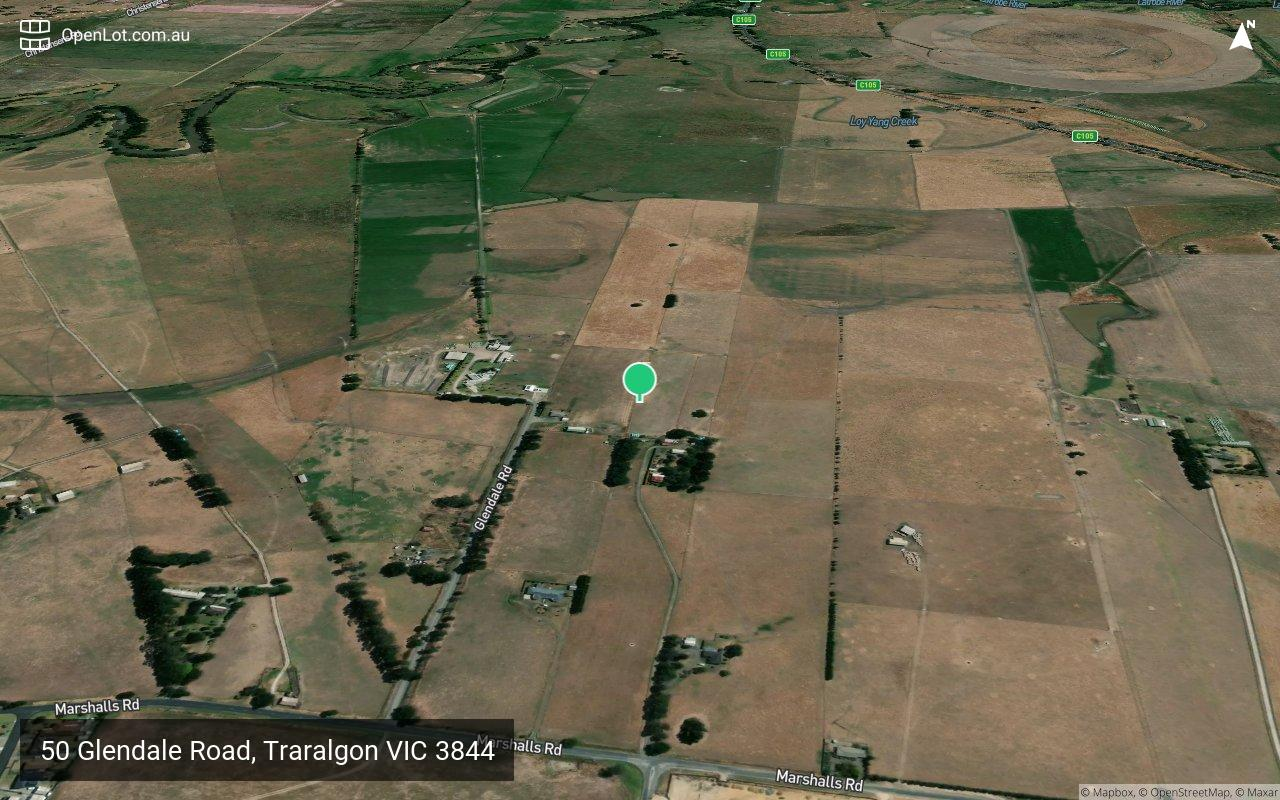 Satellite image for 50 Glendale Road, Traralgon VIC 3844