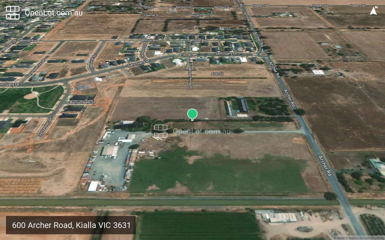 Satellite image for 600 Archer Road, Kialla VIC 3631