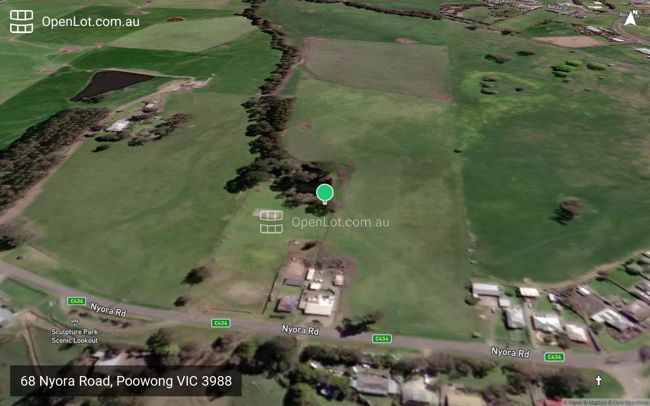 Satellite image for 68 Nyora Road, Poowong VIC 3988