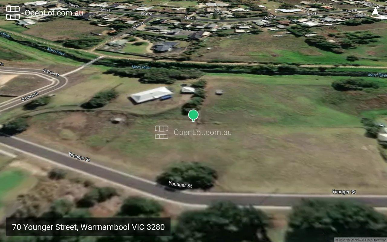 Satellite image for 70 Younger Street, Warrnambool VIC 3280