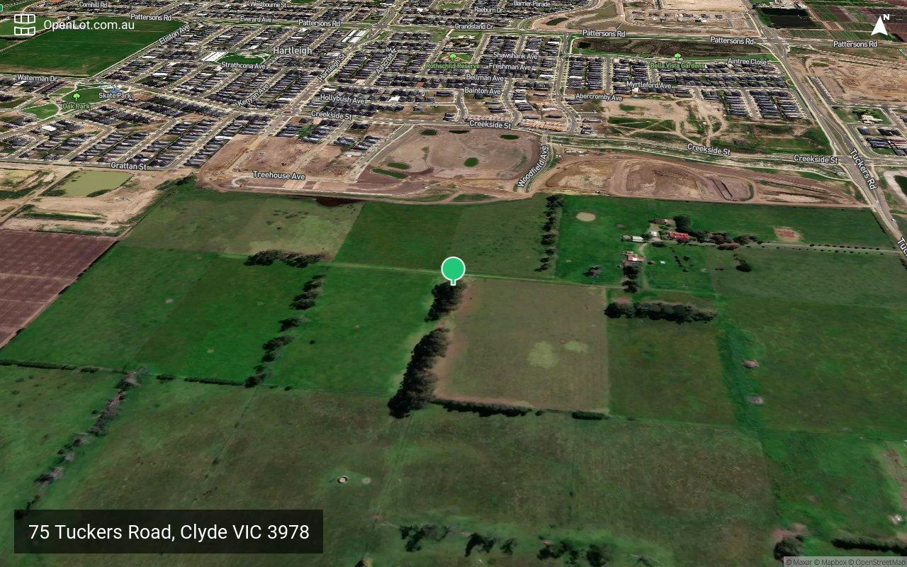 Satellite image for 75 Tuckers Road, Clyde VIC 3978