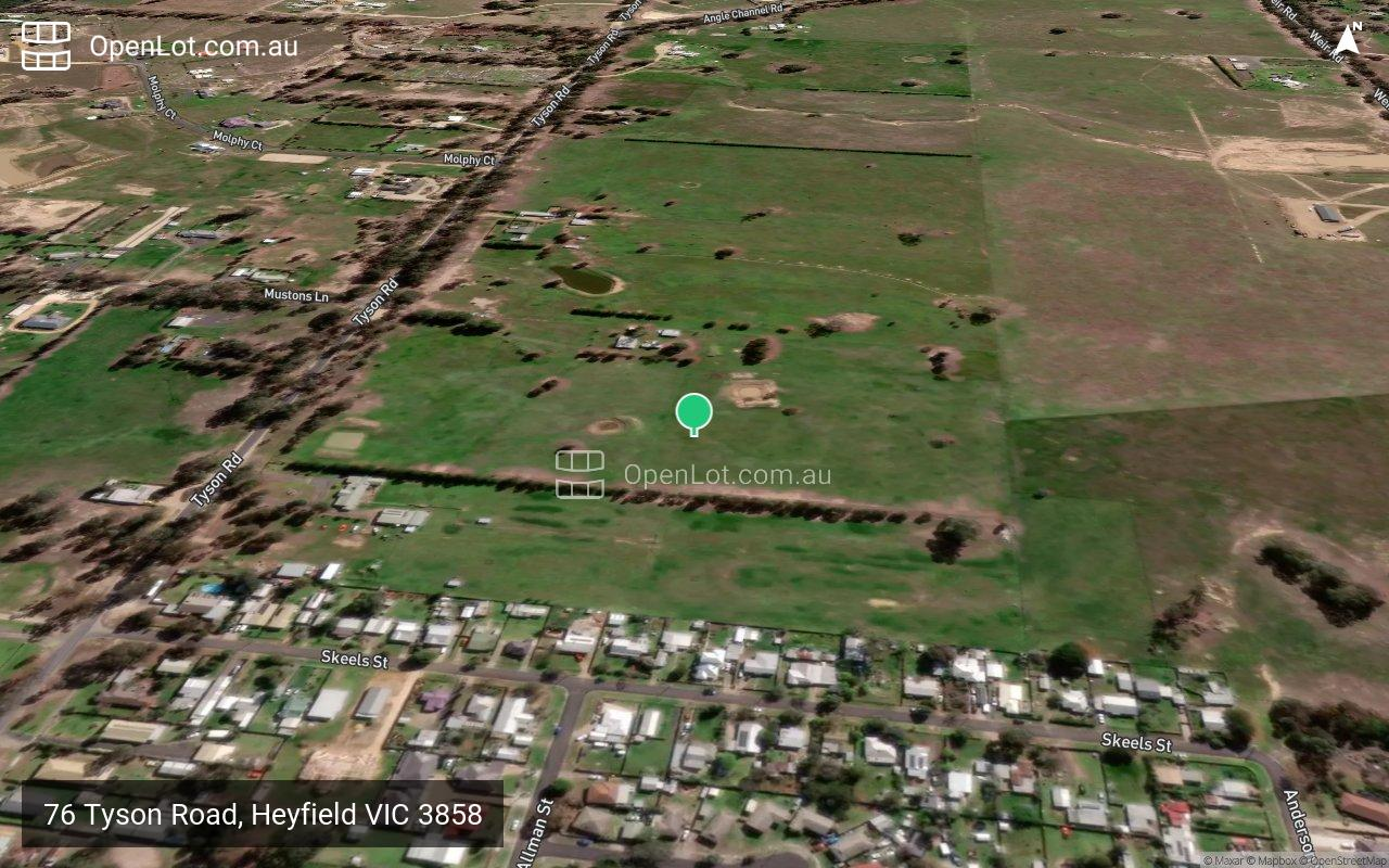 Satellite image for 76 Tyson Road, Heyfield VIC 3858