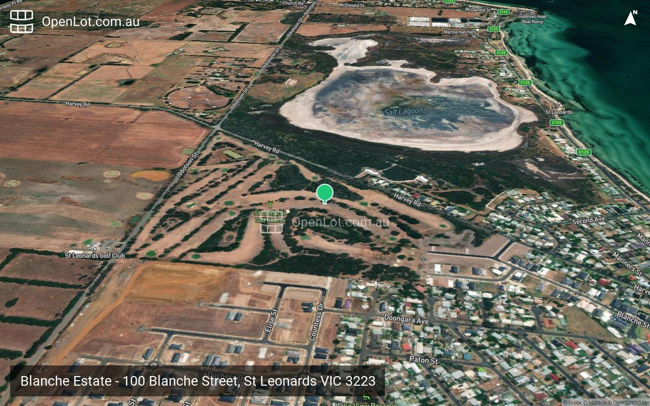 Satellite image for Blanche Estate - 100 Blanche Street, St Leonards VIC 3223