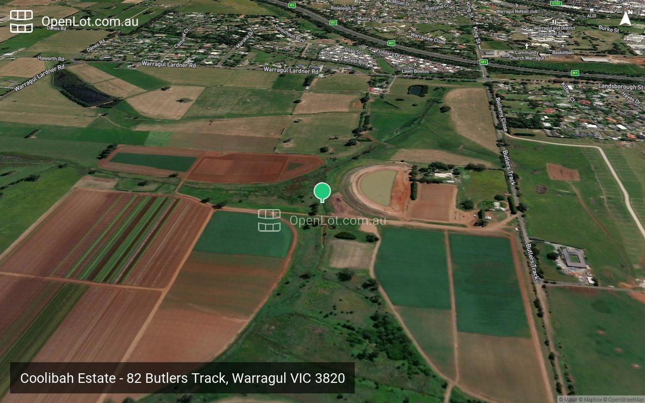 Satellite image for Coolibah Estate - 82 Butlers Track, Warragul VIC 3820