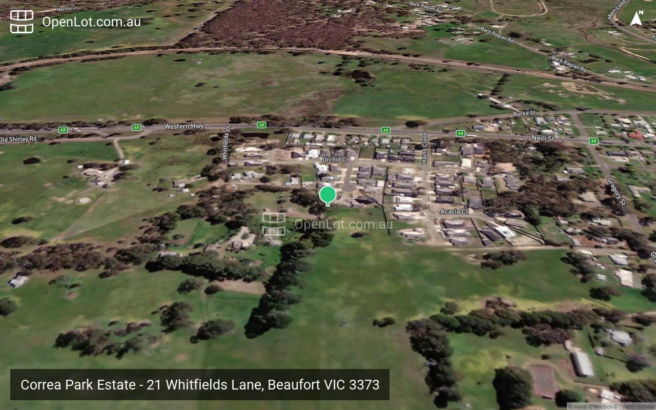 Satellite image for Correa Park Estate - 21 Whitfields Lane, Beaufort VIC 3373