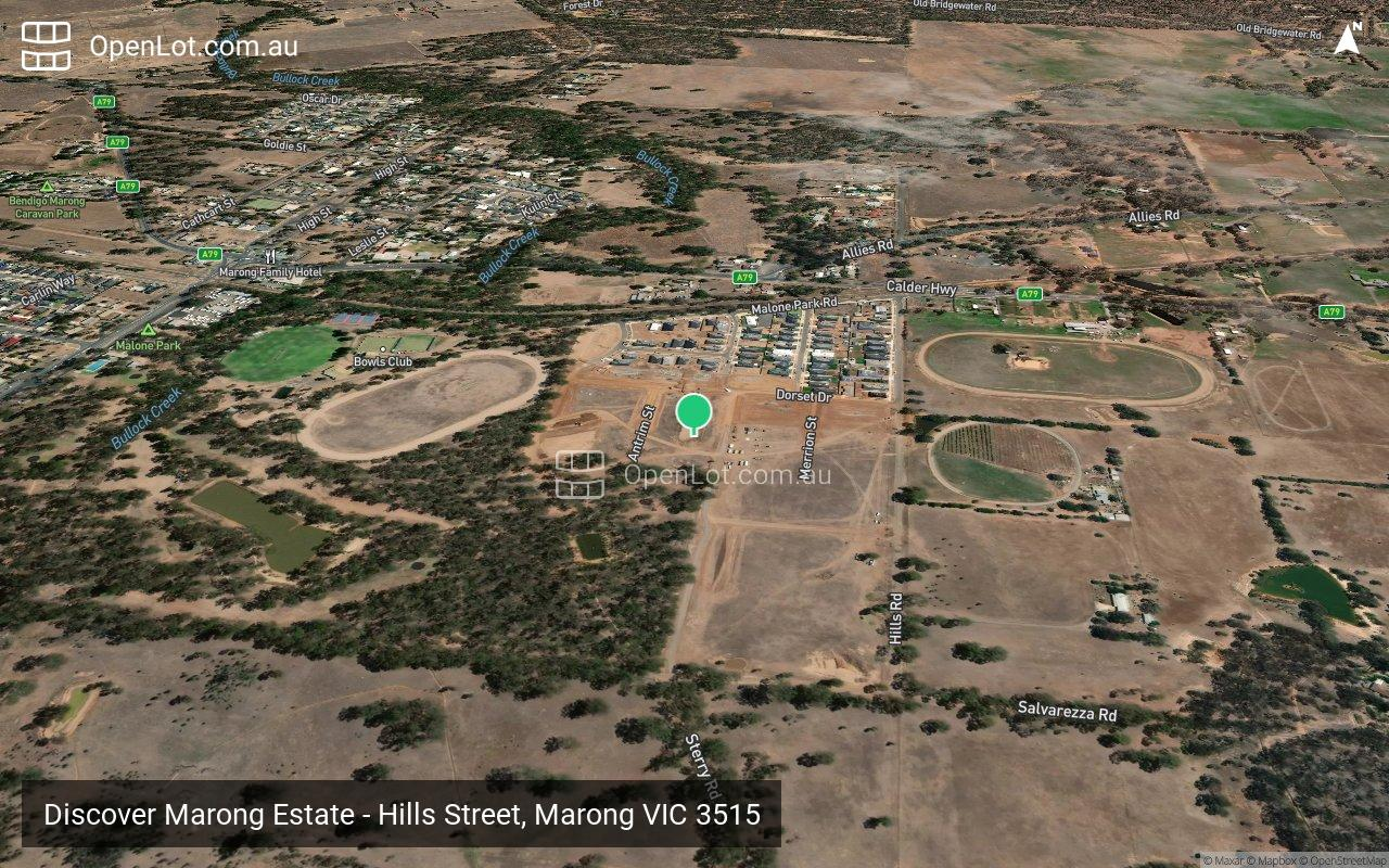 Satellite image for Discover Marong Estate - Hills Street, Marong VIC 3515
