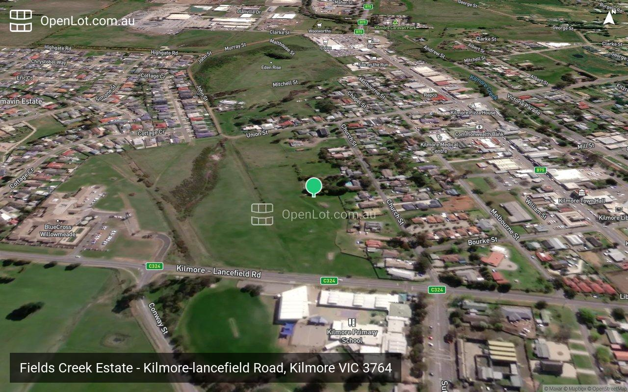 Satellite image for Fields Creek Estate - Kilmore-lancefield Road, Kilmore VIC 3764