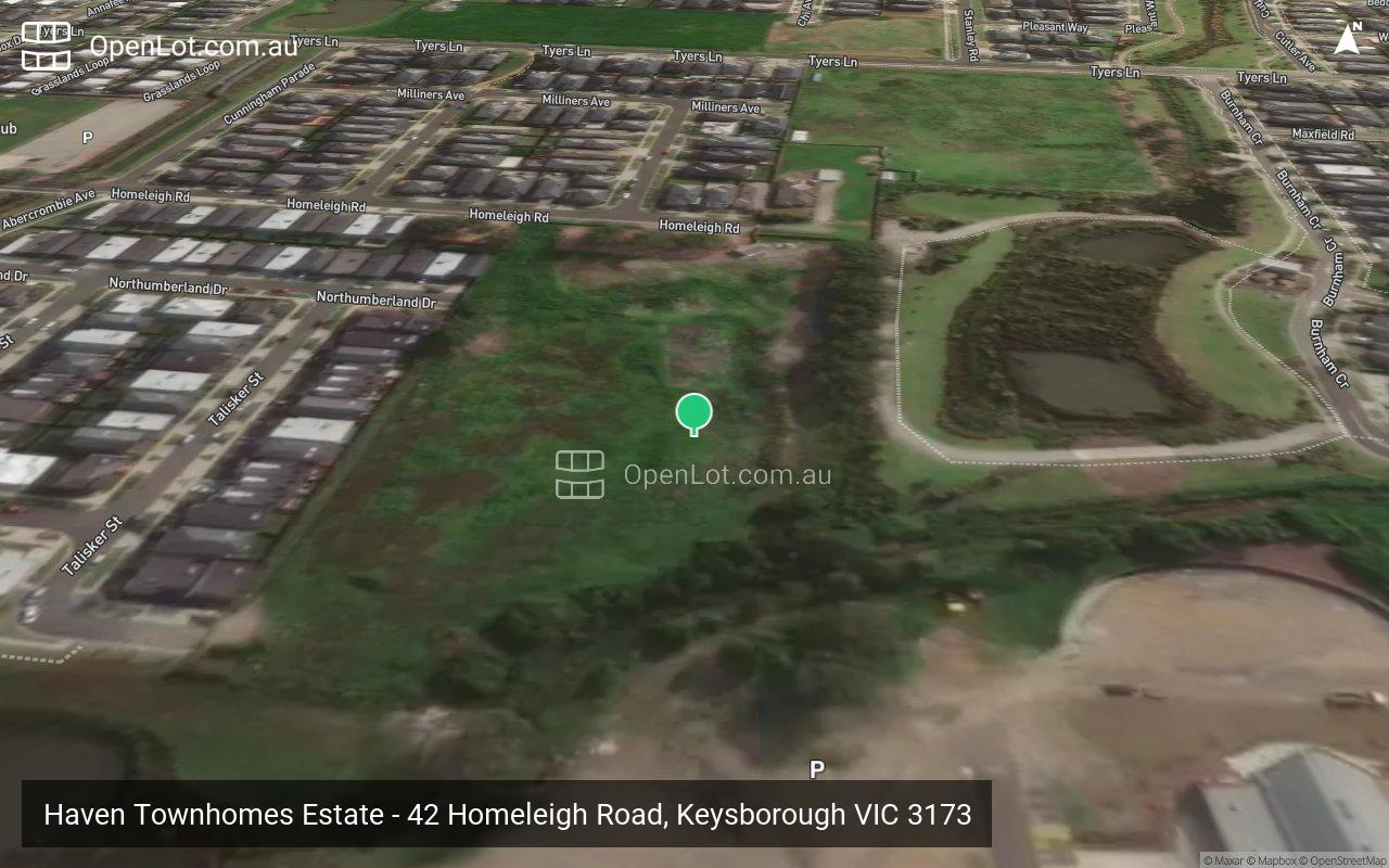 Satellite image for Haven Townhomes Estate - 42 Homeleigh Road, Keysborough VIC 3173