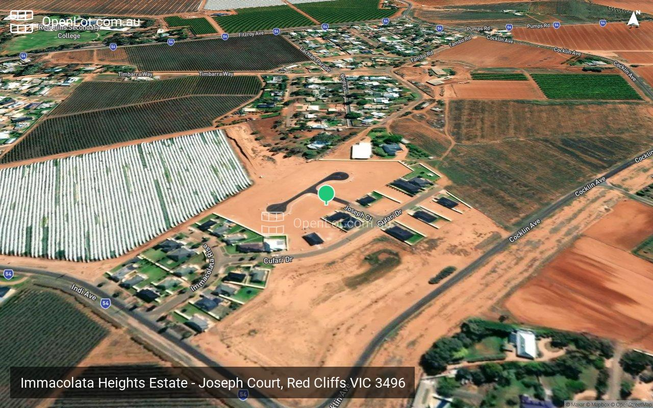 Satellite image for Immacolata Heights Estate - Joseph Court, Red Cliffs VIC 3496