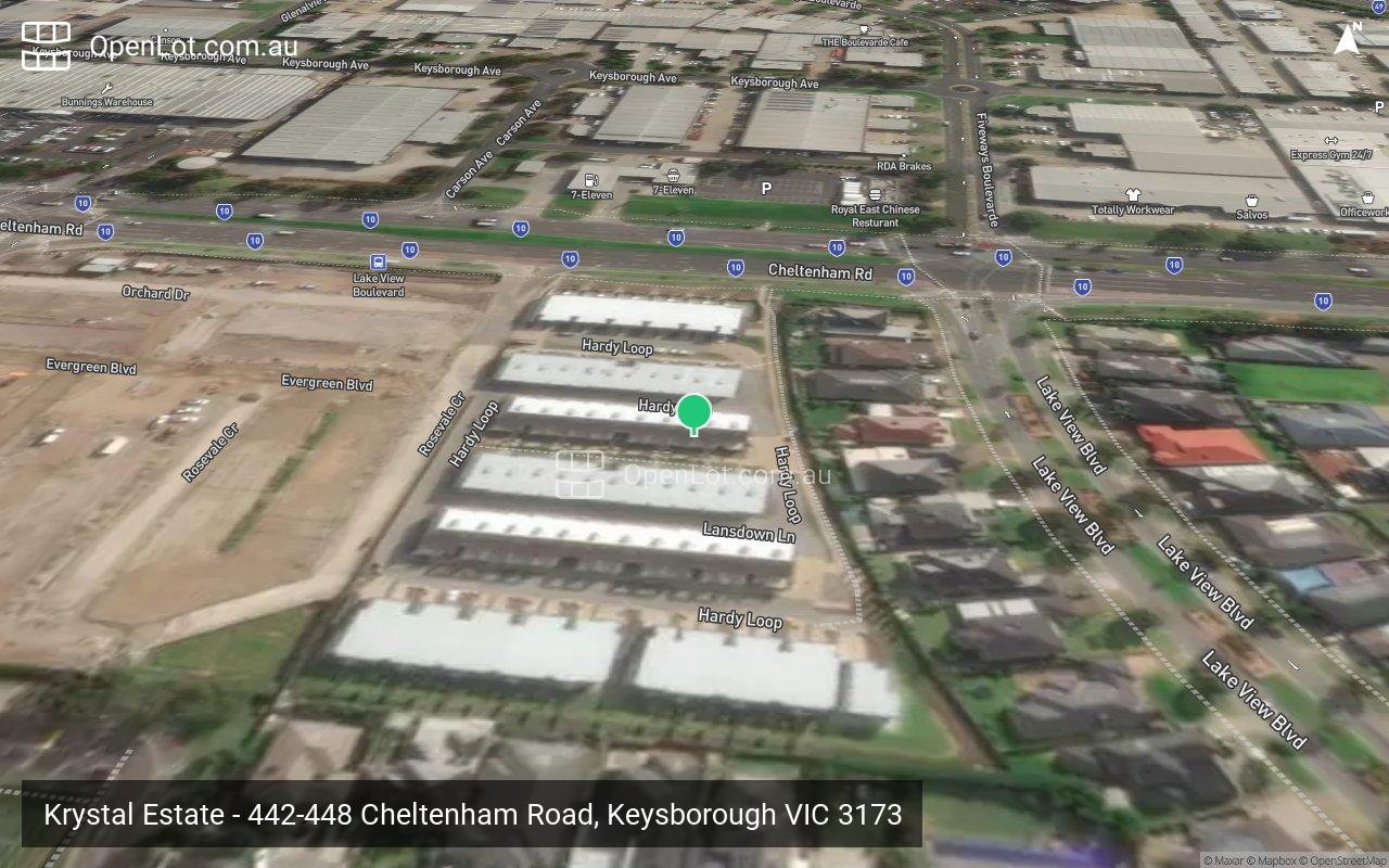 Satellite image for Krystal Estate - 442-448 Cheltenham Road, Keysborough VIC 3173