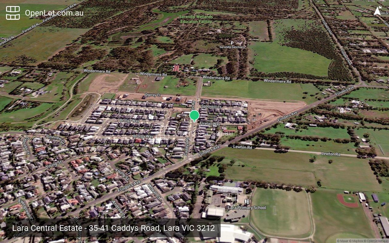 Satellite image for Lara Central Estate - 35-41 Caddys Road, Lara VIC 3212