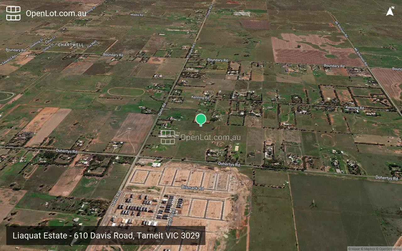 Satellite image for Liaquat Estate - 610 Davis Road, Tarneit VIC 3029