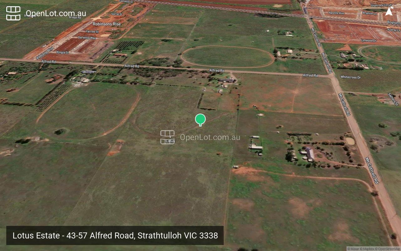 Satellite image for Lotus Estate - 43-57 Alfred Road, Strathtulloh VIC 3338