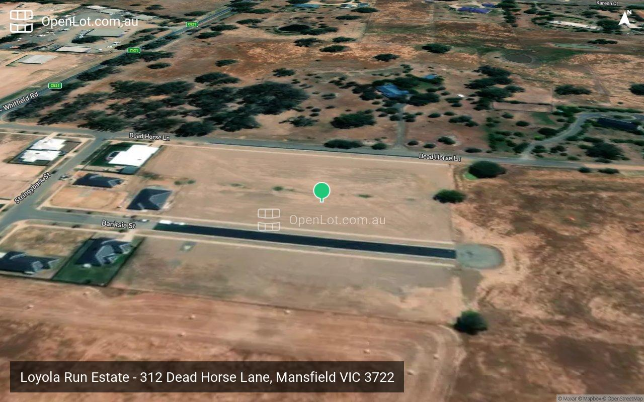 Satellite image for Loyola Run Estate - 312 Dead Horse Lane, Mansfield VIC 3722