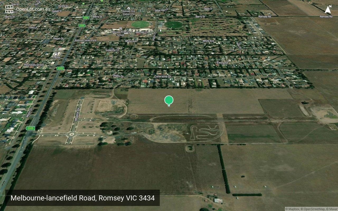Satellite image for Melbourne-lancefield Road, Romsey VIC 3434