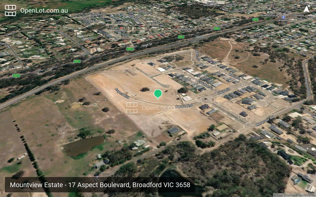 Satellite image for Mountview Estate - 17 Aspect Boulevard, Broadford VIC 3658