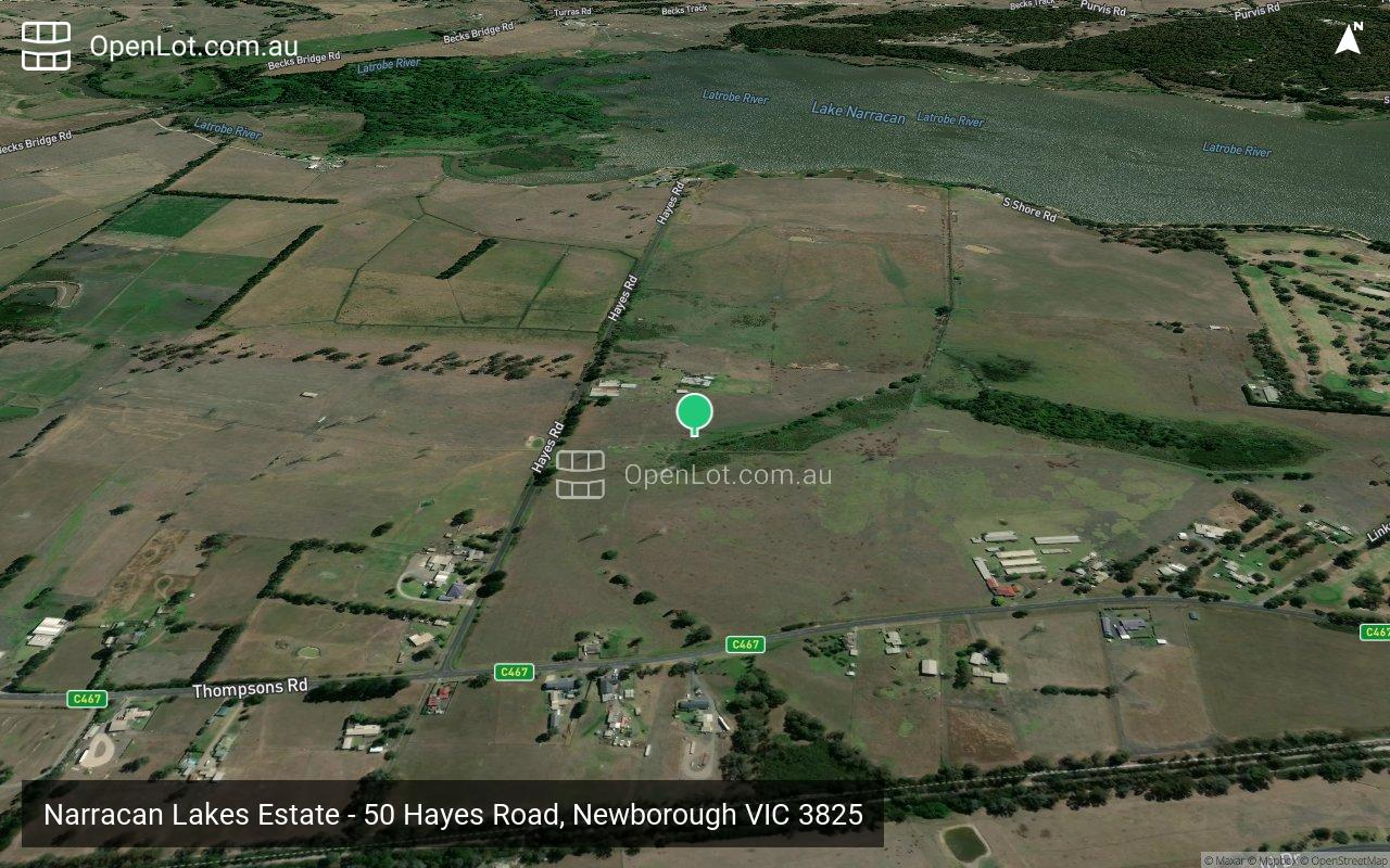 Satellite image for Narracan Lakes Estate - 50 Hayes Road, Newborough VIC 3825