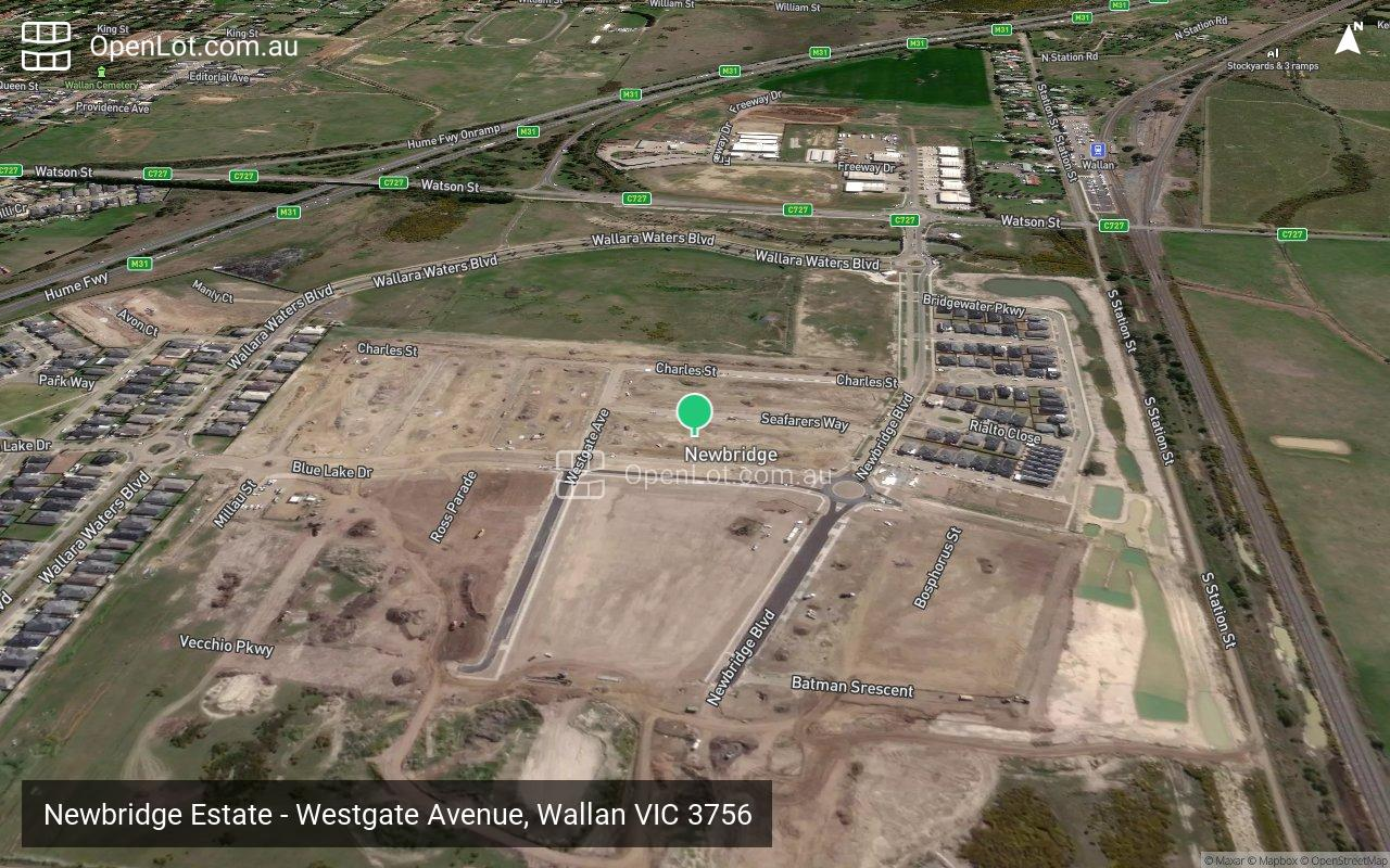 Satellite image for Newbridge Estate - Westgate Avenue, Wallan VIC 3756