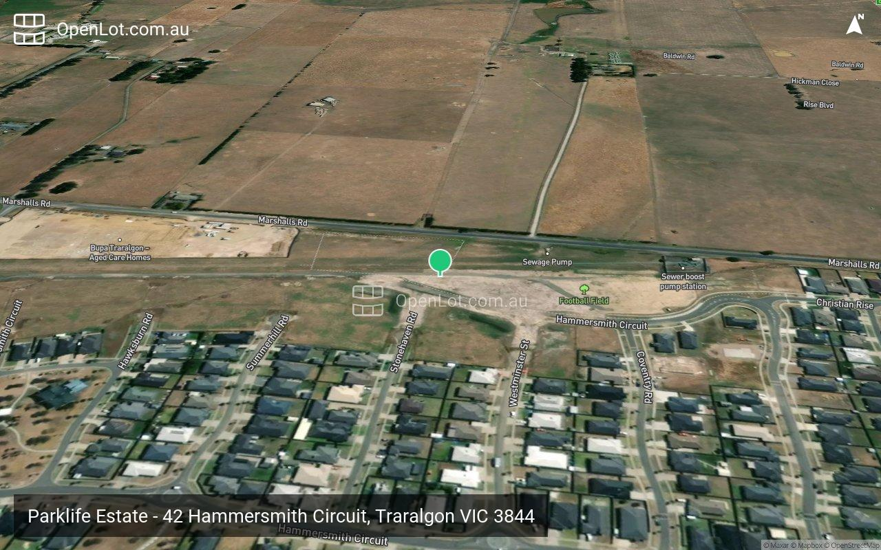 Satellite image for Parklife Estate - 42 Hammersmith Circuit, Traralgon VIC 3844