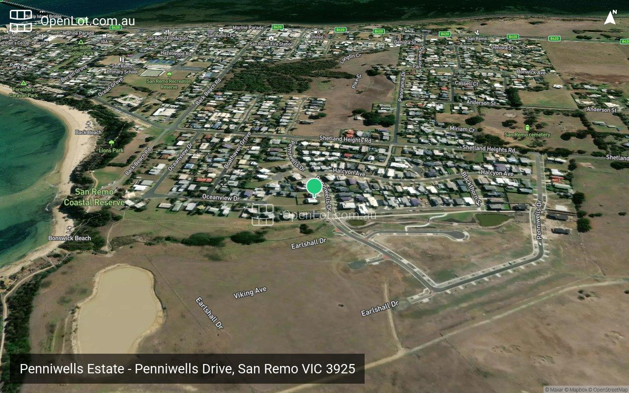 Satellite image for Penniwells Estate - Penniwells Drive, San Remo VIC 3925